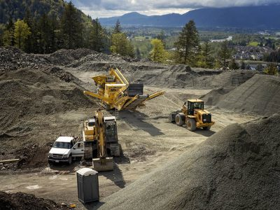 Residential excavating and construction projects